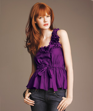 Robbi & Nikki purple silk top
