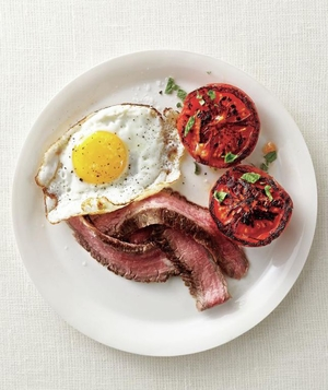 Steak and Eggs With Seared Tomatoes