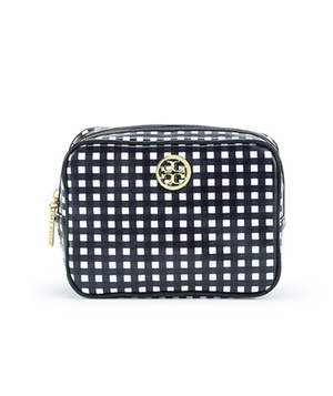 Tory Burch Gingham Cosmetic Case