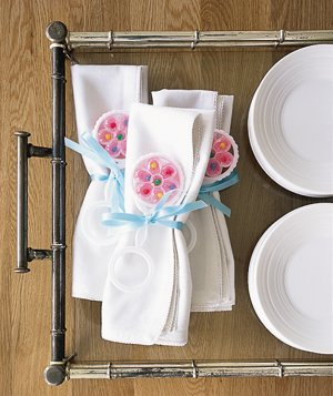 Napkins and place settings
