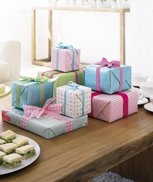 Presents on a table