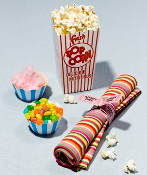 Popcorn and candy