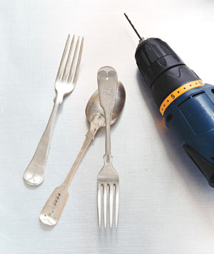 Drill with utensils