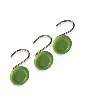 Green circle shower curtain hooks by Croscill
