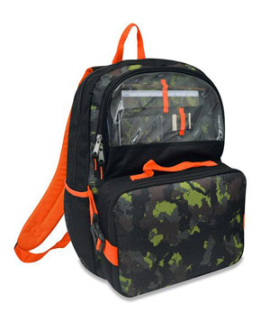 """Grainy Camo Everything 17"""" Backpack"""