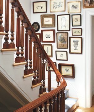 Stairwell with pictures