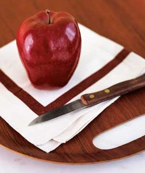 Apple and paring knife