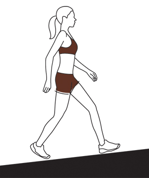 Illo Woman walking up