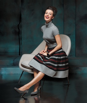 Model in a circle skirt