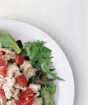 Cherry Tomatoes and Red Onion Chicken Salad