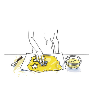 Illustration of foolproof cookie cutting