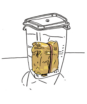 Illustration of softening brown sugar