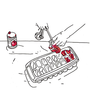Illustration of storing leftover tomato paste