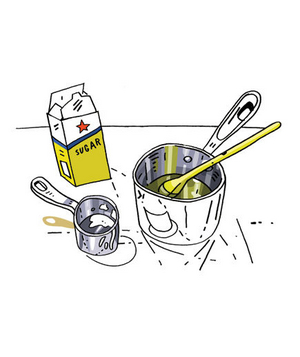 Illustration of how to make symple syrup