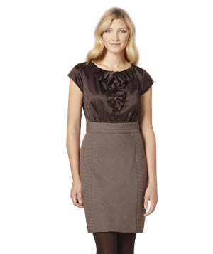 Limited 2-in-1 Houndstooth Dress