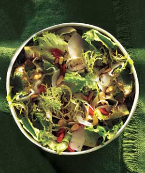 Greens With Apricots and Fennel