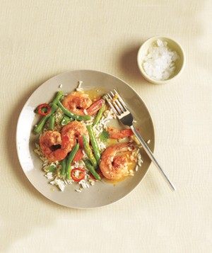 Spiced Shrimp With Green Beans and Lime