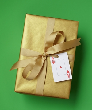 Playing Card as Gift Tag
