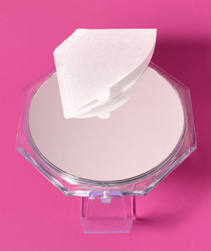 Coffee Filter as Mirror Cleaner