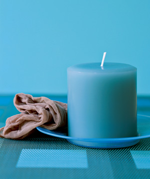 Panty hose used to clean candles