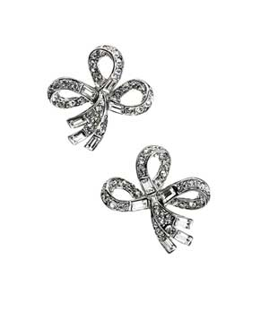 silver-and-crystal earrings