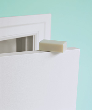 Soap used to ease door jam