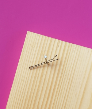 Bobby Pin as Small Nail Holder