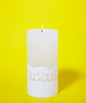 Doily as Candle Holder