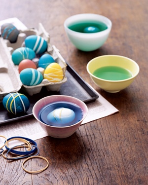 Rubber Band as Easter Egg Decorator