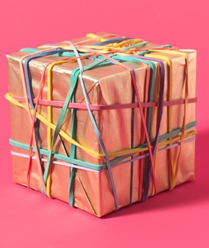 Rubber Bands as Gift Bow