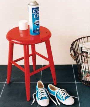 Starch spray and sneakers