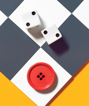 Button as boardgame piece