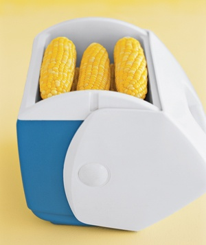 Corn in a cooler