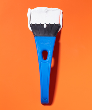 Ice Scraper as Decorating Tool