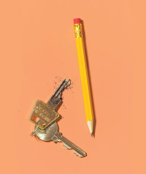 Pencil as key lubricant
