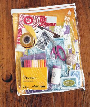 Bed linen bag for art supplies