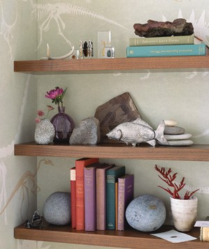 Rocks used as bookends
