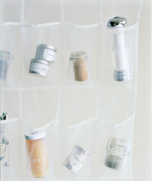 Shoe organizer used to organize spices