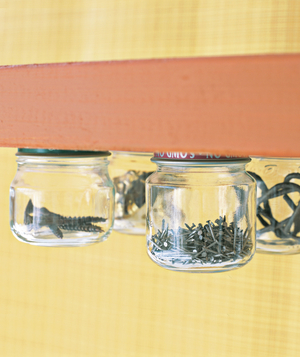 Jar as Knicknack Organizer