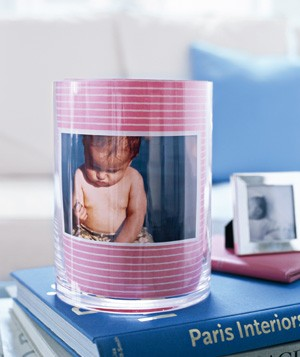 Vase used as picture frame
