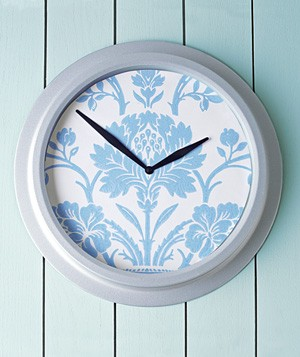 Wallpaper used to decorate clock