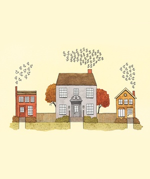 Houses illo for property tax