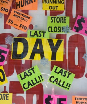 Last chance signs