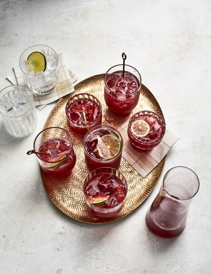 Pomegranate-Lime Tequila Punch