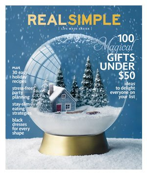 Real Simple December 2010 cover