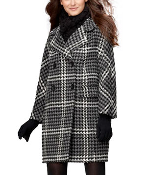 Chunky Houndstooth Coat by DKNYC