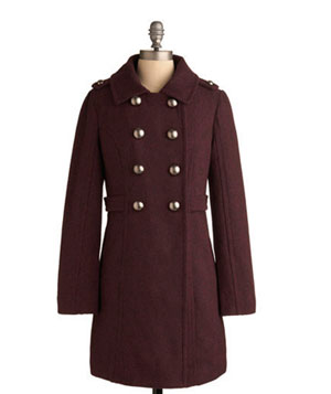 Spiced Wine Coat by Tulle Clothing