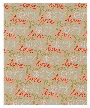 Peace, Joy, Love Wrapping Paper