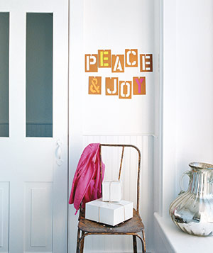 Christmas decoration ideas - Wall stencils