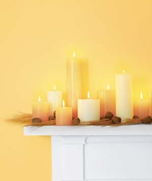 Christmas decoration ideas - candle mantel
